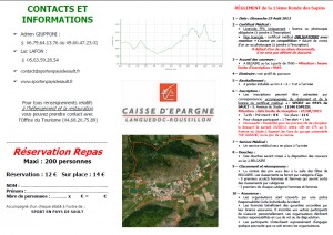 Bulletin d'inscription coureurs verso