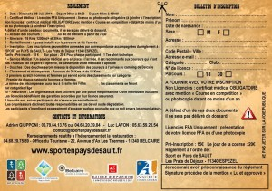 Bulletin d'inscription Trail 2014