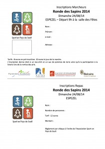 Inscriptions marcheurs